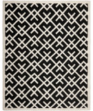RugStudio presents Safavieh Dhurries DHU552L Black / Ivory Flat-Woven Area Rug