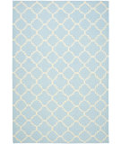 RugStudio presents Safavieh Dhurries Dhu554b Light Blue / Ivory Flat-Woven Area Rug