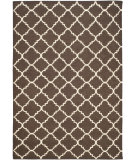 RugStudio presents Safavieh Dhurries Dhu554c Brown / Ivory Flat-Woven Area Rug