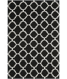 RugStudio presents Safavieh Dhurries DHU554L Black / Ivory Flat-Woven Area Rug