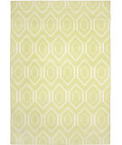 RugStudio presents Safavieh Dhurries DHU556A Green / Ivory Flat-Woven Area Rug