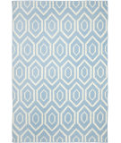 RugStudio presents Safavieh Dhurries DHU556B Blue / Ivory Flat-Woven Area Rug
