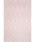 RugStudio presents Safavieh Dhurries DHU556C Pink / Ivory Flat-Woven Area Rug