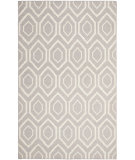 RugStudio presents Safavieh Dhurries DHU556G Grey / Ivory Flat-Woven Area Rug