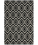 RugStudio presents Safavieh Dhurries DHU556L Black / Ivory Flat-Woven Area Rug