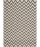 RugStudio presents Safavieh Dhurries DHU557D Brown / Ivory Flat-Woven Area Rug
