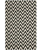 RugStudio presents Safavieh Dhurries DHU557L Black / Ivory Flat-Woven Area Rug