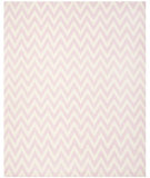 RugStudio presents Safavieh Dhurries DHU557P Pink / Ivory Area Rug