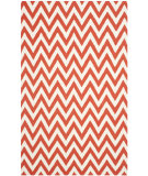 RugStudio presents Safavieh Dhurries Dhu557q Red - Ivory Woven Area Rug