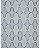 RugStudio presents Safavieh Dhurries Dhu559b Light Blue / Dark Blue Flat-Woven Area Rug