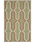 RugStudio presents Safavieh Dhurries Dhu559c Green / Rust Flat-Woven Area Rug