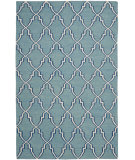 RugStudio presents Safavieh Dhurries DHU564B Light Blue / Ivory Flat-Woven Area Rug