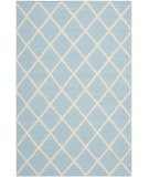 RugStudio presents Safavieh Dhurries DHU565B Light Blue / Ivory Flat-Woven Area Rug