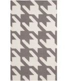 RugStudio presents Safavieh Dhurries DHU569A Grey / Ivory Flat-Woven Area Rug