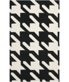 RugStudio presents Safavieh Dhurries DHU570A Black / Ivory Flat-Woven Area Rug