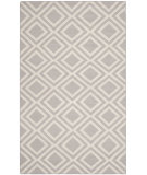 RugStudio presents Safavieh Dhurries Dhu571a Grey / Ivory Flat-Woven Area Rug