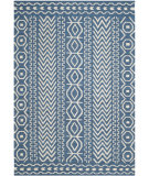 RugStudio presents Safavieh Dhurries Dhu572a Dark Blue - Ivory Flat-Woven Area Rug