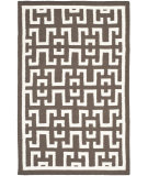 RugStudio presents Safavieh Dhurries DHU621C Chocolate / Ivory Flat-Woven Area Rug