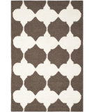 RugStudio presents Safavieh Dhurries Dhu624c Brown / Ivory Flat-Woven Area Rug