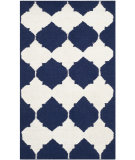 RugStudio presents Safavieh Dhurries Dhu624d Navy / Ivory Flat-Woven Area Rug