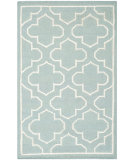 RugStudio presents Safavieh Dhurries Dhu625a Blue / Ivory Flat-Woven Area Rug