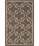 RugStudio presents Safavieh Dhurries Dhu625c Brown / Ivory Flat-Woven Area Rug