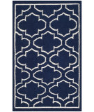 RugStudio presents Safavieh Dhurries Dhu625d Navy / Ivory Flat-Woven Area Rug