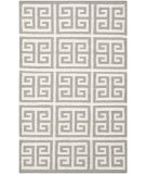 RugStudio presents Safavieh Dhurries Dhu626b Grey / Ivory Flat-Woven Area Rug