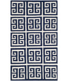 RugStudio presents Safavieh Dhurries Dhu626d Navy / Ivory Flat-Woven Area Rug