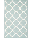 RugStudio presents Safavieh Dhurries Dhu627a Blue / Ivory Flat-Woven Area Rug