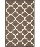 RugStudio presents Safavieh Dhurries Dhu627c Brown / Ivory Flat-Woven Area Rug