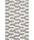 RugStudio presents Safavieh Dhurries Dhu630a Silver / Ivory Flat-Woven Area Rug