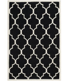 RugStudio presents Safavieh Dhurries DHU632A Black / Ivory Flat-Woven Area Rug