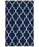 RugStudio presents Safavieh Dhurries DHU632D Navy / Ivory Flat-Woven Area Rug