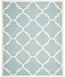 RugStudio presents Safavieh Dhurries DHU633C Light Blue / Ivory Flat-Woven Area Rug
