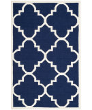 RugStudio presents Safavieh Dhurries DHU633D Navy / Ivory Flat-Woven Area Rug