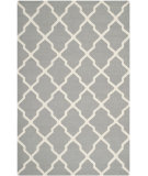 RugStudio presents Safavieh Dhurries DHU634B Grey / Ivory Flat-Woven Area Rug