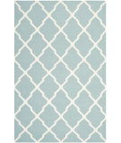 RugStudio presents Safavieh Dhurries DHU634C Light Blue / Ivory Flat-Woven Area Rug