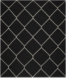 RugStudio presents Safavieh Dhurries DHU635A Black / Ivory Area Rug
