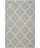 RugStudio presents Safavieh Dhurries DHU635B Grey / Ivory Flat-Woven Area Rug