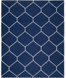 RugStudio presents Safavieh Dhurries DHU635D Navy / Ivory Flat-Woven Area Rug