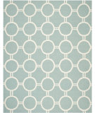 RugStudio presents Safavieh Dhurries DHU636C Light Blue / Ivory Flat-Woven Area Rug
