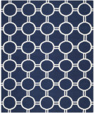 RugStudio presents Safavieh Dhurries DHU636D Navy / Ivory Area Rug