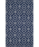RugStudio presents Safavieh Dhurries Dhu637d Navy / Ivory Woven Area Rug
