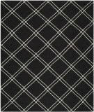 RugStudio presents Safavieh Dhurries DHU638A Black / Ivory Flat-Woven Area Rug