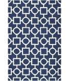 RugStudio presents Safavieh Dhurries DHU639D Navy / Ivory Area Rug