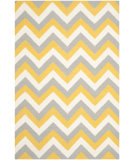 RugStudio presents Safavieh Dhurries Dhu640a Gold / Grey Flat-Woven Area Rug