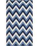 RugStudio presents Safavieh Dhurries Dhu640b Navy / Light Blue Flat-Woven Area Rug