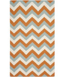 RugStudio presents Safavieh Dhurries Dhu640c Terracotta / Blue Flat-Woven Area Rug