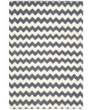 RugStudio presents Safavieh Dhurries Dhu644b Ivory - Charcoal Woven Area Rug